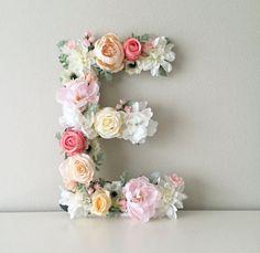 Floral Letter Nursery Letter Flower Letter Nursery Wall