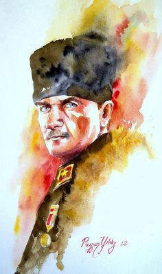 Olağanüstü Bir ATATÜRK Konulu Sanat Yapıtı !!! Water Marbling, Graffiti Drawing, Marble Art, Portrait, Watercolor Tattoo, Doodles, History, Wallpaper, Tattoos