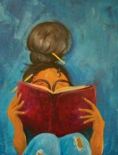 art Painting woman reading book worms new Ideas Art Black Love, Black Girl Art, Art Girl, Black Girls, Black Art Painting, Black Artwork, African American Art, African Art, Art Amour