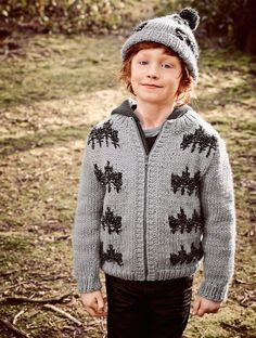 Boy's Zipped Fairisle Jacket by Bergère de France   sizes 6-10 years   pattern in the Knitting magazine