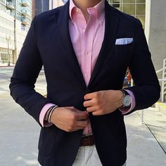 We think pink is always in season. #Regram @blakescott_ wearing our iconic button-down shirt.