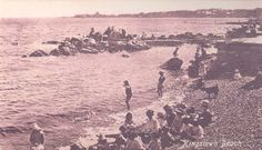 Dun Laoghaire Beach - we swam here when we were kids Us Swimming, Photo Engraving, Ireland Homes, Dublin, Old Photos, Postcards, Past, Buildings, Archive