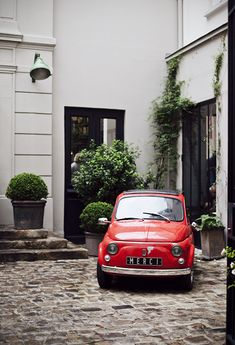 AMAZING French store just past the Marais towards Republique.  Took a similar picture of the famous vintage fiat - store tucked away in a charming courtyard.  - amy