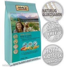 • Mac's Mini Duck 3kg Adult Hundefor Duck-Lamb-Salmon Mac Mini, Grain Free, Lamb, Salmon, Atlantic Salmon, Baby Sheep, Trout