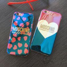 正規品MOSCHINOレーザーブルーライトカップル向けペアケースiphone7/6sケースアイフォン7 Plus/6plus保護カバーソフトシリコン製