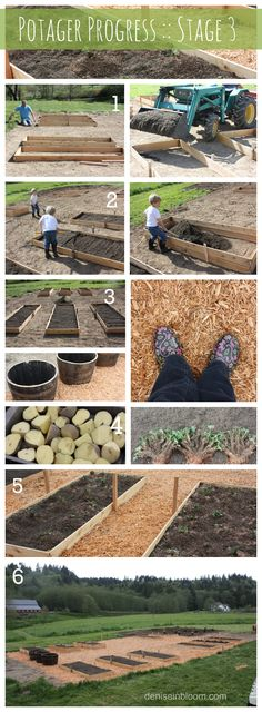 How To Plan, Prepare, and Create a Large KItchen (Potager) Garden.  Watch our on-going progress at deniseinbloom.com