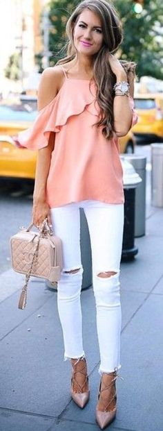 Stylist: this top is stunning. I don't love blush pink though.