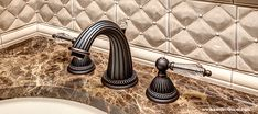 Stuff to buy Monarch Crystal II (Bright Victorian Bronze) Luxury Bathroom Faucets, Bathroom Decor, Powder Room, Backsplash, Cambria Countertops, Glass Front Cabinets, Dining Room Decor, Home Decor, Powder Room Faucets