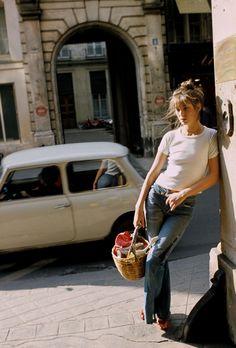 Everyone's carrying a Jane Birkin basket bag