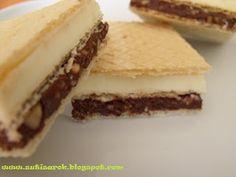 Sütisarok: Knoppers házilag Baking Recipes, Dessert Recipes, Kolaci I Torte, Croatian Recipes, Snack Bar, Cupcake Cakes, Caramel, Cheesecake, Food And Drink