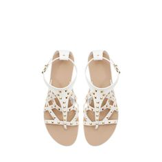 Image 1 of FLAT STUDDED SANDAL from Zara