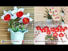 3 EASY FELT ORCHIDS - #DIY How to Make Felt Flowers - S Nuraeni - YouTube Felt Flower Tutorial, Felt Flowers, Hello Everyone, Pansies, Needle Felting, Home Art, Orchids, The Creator, Planter Pots