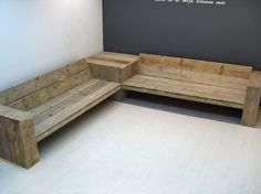 Hoekbank + Hoektafel steigerhout op voorraad alle maten (11520131946) | Lounge-banken & stoelen | JORG`S Houten Meubelen
