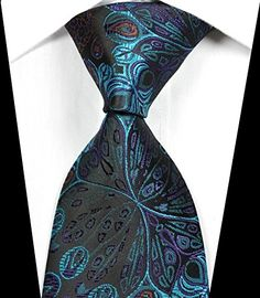 EXT Collectino 100% Silk Necktie, New Classic Florals Black Blue Purple Flower Peacock Feathers Formal Tie JACQUARD WOVEN Men's Suits Wedding Party Ties EXT Collectino http://www.amazon.com/dp/B014E2PXMO/ref=cm_sw_r_pi_dp_8Mo8vb0KR661D