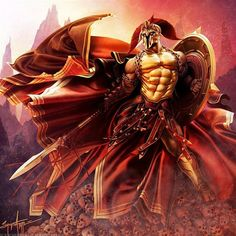 Mighty Ares. Greek god of war