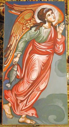 O glorious Archangel St. Raphael who, having guarded jealously, the son of… Byzantine Icons, Byzantine Art, Religious Icons, Religious Art, Archangel Raphael, St Raphael, 4 Archangels, Angel Protector, Greek Icons