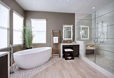 bodenbelag design badezimmer bodenfliesen mosaikfliesen einbauleuchten