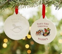 Baby's First Personalized Ornaments | Pottery Barn Kids