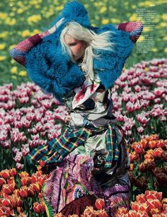 ❀ Flower Maiden Fantasy ❀ beautiful art fashion photography of women and flowers - Vivienne Sassen fashion editorial