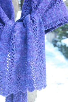 oversized and easy to knit lace shawl.