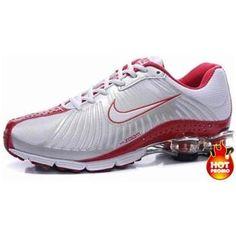 http://www.asneakers4u.com Mens Nike Shox R4 White Red Black