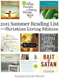 Summer is the perfect time to catch up on some reading. Here are nine Christian living book you WON'T want to miss!
