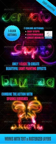 Download Light Painting Effect Photoshop Actions    http://graphic.indexaz.com/