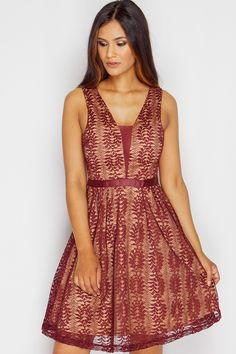 Isabella Wine Lace Skater Dress  sold by URBANE OUTFITTERS. Shop more products from URBANE OUTFITTERS on Storenvy, the home of independent small businesses all over the world.
