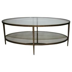 Check out this item at One Kings Lane! Cast Bronze Oval Coffee Table