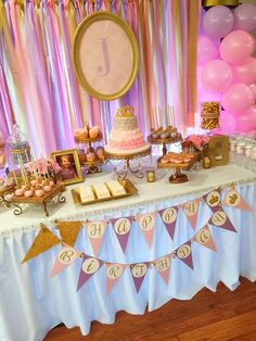 Pink And Gold Princess Birthday Party TheIcedSugarCookie.com Jamie's Cake Pops And Creative Events