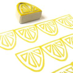Lemon Slice Stamp  Rubber Stamp  Cling Rubber Stamp by creatiate, $7.00