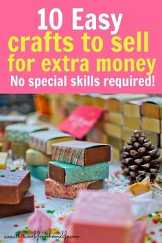 10 Easy DIY Crafts To Sell Or Give As Gifts Crafts to sell to make money from home! These DIY gift ideas are perfect for selling at craft fairs or online. I love these crafts to sell on Etsy as . Money Making Crafts, Easy Crafts To Sell, Diy Projects To Sell, Easy Craft Projects, Sell Diy, Diy Crafts For Kids, Christmas Crafts To Sell Make Money, Kids Diy, Diy Gifts To Sell