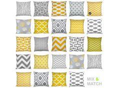 1+Kissenhülle++Chevron+gelb-weiß+40+x+40+von+schoene-kissen-design+auf+DaWanda.com