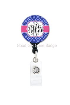 Retractable ID Badge Holder Personalized by GoodGirlGoneBadge