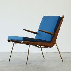 Peter Hvidt & Orla Mølgaard Nielsen, Boomerang armchair, 1956 by France & Søn, Denmark. /sombreboite
