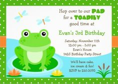 Cute Frog Birthday Party Invitation (http://www.eventfulcards.com/froggy-birthday-party-invitation/)