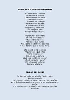 Selección poemas lorca Pablo Neruda, Playwright, Life Moments, Poetry Quotes, Qoutes, Literature, Motivational Quotes, Writer, Novels