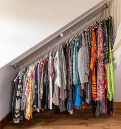 Dormer Bedroom, Attic Bedroom Storage, Attic Bedroom Designs, Attic Closet, Attic Rooms, Closet Bedroom, Bedroom Storage Ideas For Clothes, Clothing Storage, Loft Bedrooms