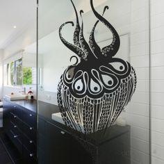 Calamars. Design Sophie Briand pour Acte Deco. www.design-graphisme-mural.fr