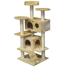 Go cat Club 53 in. Cat Tree Condo Scratcher Post cat Bed Furniture > Find out more details by clicking the image : Cat Beds and Furniture