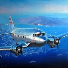 Douglas DC-3 over San Francisco par Lucio Perinotto by kitchener.lord, via Flickr