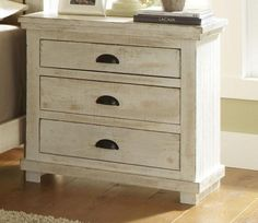 Willow Nightstand in #Distressed White brings a fresh take on an antique look