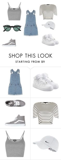 """Monday"" by julietoft on Polyvore featuring Dorothy Perkins, NIKE, Vans, Alexander Wang, Topshop and Ray-Ban"