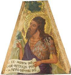 "Ambrogio Lorenzetti (før 1317 - ca. 1348), ""Johannes Døberen"", 1337-42.  Statens Museum for Kunst / National Gallery of Denmark. http://www.smk.dk/index.php?id=1119"