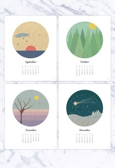 Wall calendar 2020 12 months plus inspirational cover page Seasons landscapes Pastel colors Holiday gift idea Kitchen Office Dorm print Graphic Design Magazine, Magazine Design, Wall Calendar Design, Design Bauhaus, Kalender Design, 2016 Calendar, Art Calendar, Calendar Ideas, Pastel Landscape