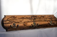 Handcrafted Wall Mounted Coat Rack by CraftedFromNature4U on Etsy