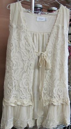 Love Love this Lace Vest! Plus Sized to boot!