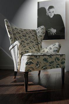 "Cecil Beaton ""Garbo's Eye"" fabric."