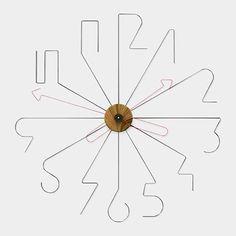 55 creative ideas for great modern wall clock design- 55 kreative Ideen für tolles modernes Wanduhr Design wall clocks-modern dial-wall from-metal-red-pointer-wood-white- - Displays, Modern Clock, Modern Wall, Cool Clocks, Wall Clock Design, Diy Clock, Wire Art, Metal Art, Diy And Crafts