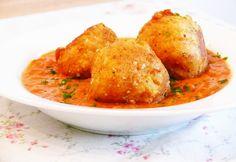 Kartoffelbällchen in Tomatensauce | Vegane Küche - vegan kochen ist nicht schwer